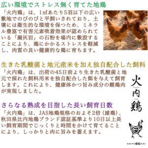 秋田比内地鶏ブロックハム杉箱入り(無添加 ) 500g×2本ギフトセット_03