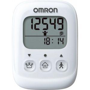 【オムロンヘルスケア】歩数計(ホワイト) 1ボタン1表示のかんたん操作、文字も大きく使いやすい
