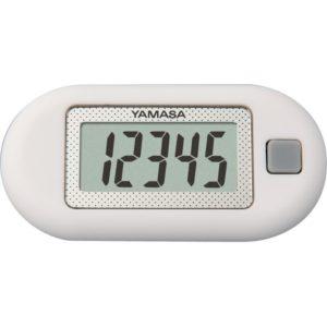 【山佐時計計器】ヤマサポケット万歩 (ホワイト) 歩数表示のみで、かんたん操作3D加速度センサー採用