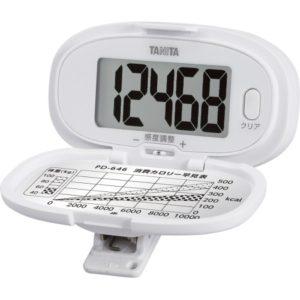 【タニタ】歩数計 (ホワイト) 操作がかんたんで、文字が大きく見やすい