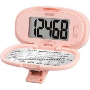 【タニタ】歩数計 (ピンク) 操作がかんたんで、文字が大きく見やすい